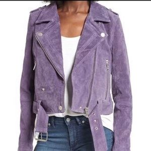 Blank NYC purple suede jacket